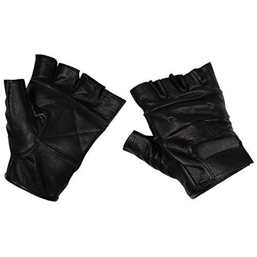 MFH 15514 Lederhandschuhe ohne Finger Deluxe (Schwarz/L)