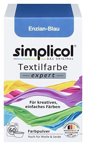 e Expert für Kreatives, Einfaches Färben, Enzian-Blau 1709: Farbe für Waschmaschine Oder manuelles Färben ()