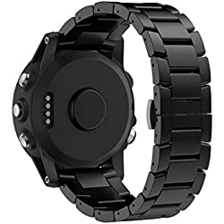 For Garmin Fenix 3 / HR, Xinantime Titanium Steel Bracelet Wrist Strap Watch Band