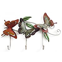 European-style Retro Butterfly Decoration Iron Hangers Ocean Hearts Coat Hook Mediterranean Style Hook Up Creative Cafe The Key Link