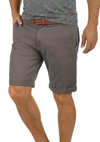 !Solid Montijo Chino Shorts Bermuda Kurze Hose Mit Gürtel Aus Stretch-Material Regular Fit, Größe:XL, Farbe:Mid Grey (2842)