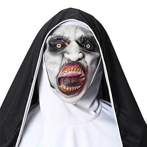 Nun Valak Maske Cosplay Halloween-Maske Scary Creepy Face Maske Kostüm ()