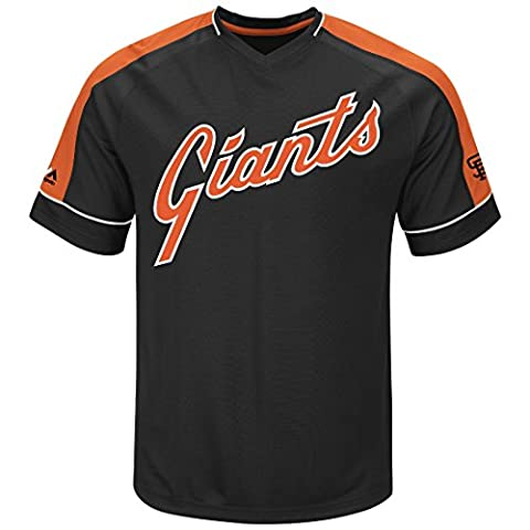 San Francisco Giants Majestic MLB Tandem Cooperstown V-Neck Men's Fashion Jersey Maillot