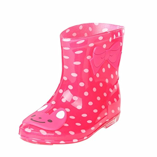 HUHU833 Infant Child Rain Boots Waterproof Animal Rubber Children Rain Shoes