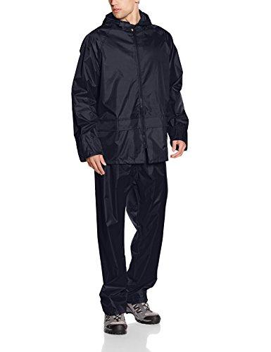 Result Mens Heavyweight Waterproof Jacket & Trouser Set Raincoat, Blue (Navy), Small