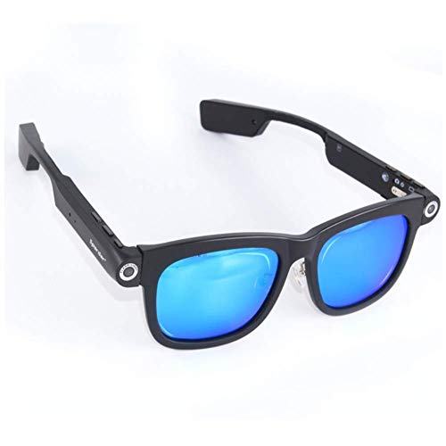 Fbestglass Bluetooth Brille Smart Headset mit kabelloser Multifunktions-Sonnenbrille mit Kamera, kompatibel mit Allen Smartphones (Kabelloser Kopfhörer Für Läufer)