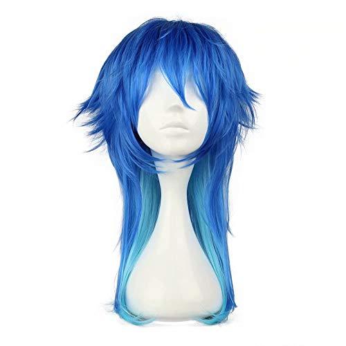 Cosplay Kostüm Männliche Anime - NiceLisa Mittlerer Länge Farbverlauf Blau Fluffy Boy Teens Männlichen Anime Festival Cosplay Kostüm Synthetische Halloween Perücken