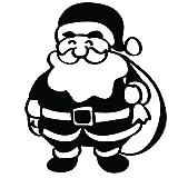 Czxmp Frohe Weihnachten Lächeln Santa WandaufkleberWandtattooWanddekoration43 * 48Cm
