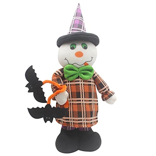 n Elastische Baumwolle Plüsch Spielzeug Puppen Ornamente Halloween Dekoration weiß ()