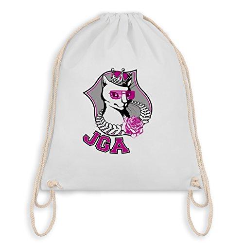 JGA Junggesellinnenabschied - JGA Katze - Turnbeutel I Gym Bag Weiß