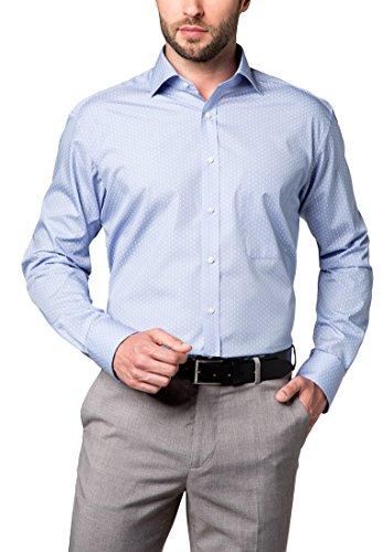 ETERNA Langarm Hemd COMFORT FIT bedruckt Blau