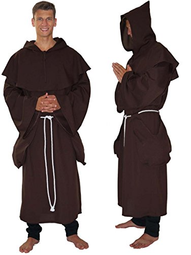 Mönch Kostüm Für Robe Erwachsene - MAYLYNN 14109 - Kostüm Mönch Herren Mönchskutte Mittelalter 3-teilig braun, Größe:XL