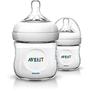 Philips Avent SCF690/27 Natural Newborn 125ml Feeding Bottle, 2 Bottles