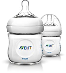 Idea Regalo - Avent Natural Biberon, 2 Pezzi, 125 ml, 0+ Mesi