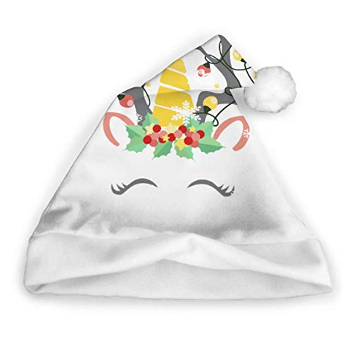 Lindo retrato renos Navidad Sombrero Santa diadema