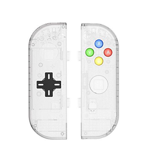 Ohne Pad Schienen (Myriann Translucent NS Joycon Handheld Controller Geh?use Mit D-Pad Taste DIY Ersatz Shell Fall f¨¹r Nintendo Switch Joy-Con (L / R) Ohne Elektronik)