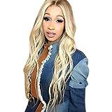 Heatnine INS-Style Golden Brown Lace Frontseiten Perücken für Damen Lange Top Synthetische Haar Perücke uk Natürliche suchen Blonde Spitze Perücken für Frauen Wavy Perücke 70cm