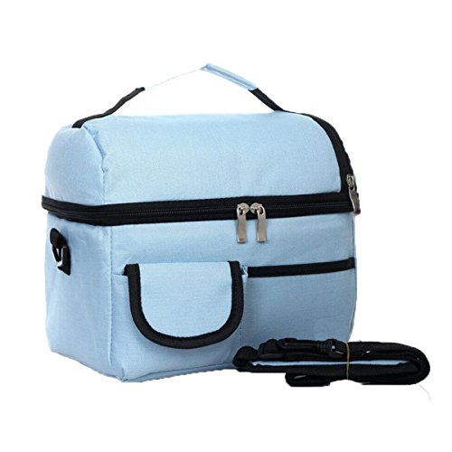 Esterni Modo Portatile Facile Da Pulire Panno Picnic Bag,Orange Blue1