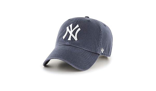 15e815cc317  47 York Yankees Clean Up MLB Dad Hat Cap Charcoal White