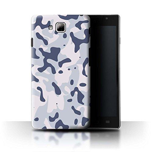 Stuff4® Hülle/Case für LG Optimus L9 II/D605 / Arktischer Sibirischer Schnee Muster/Militär Camouflage Tarnung Kollektion (Camo Lg Optimus L9 Case)