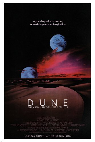 david LYNCH'S DUNE movie poster science fiction DREAMS FANTASY 24X36 new (reproduction, not an original) by HSE