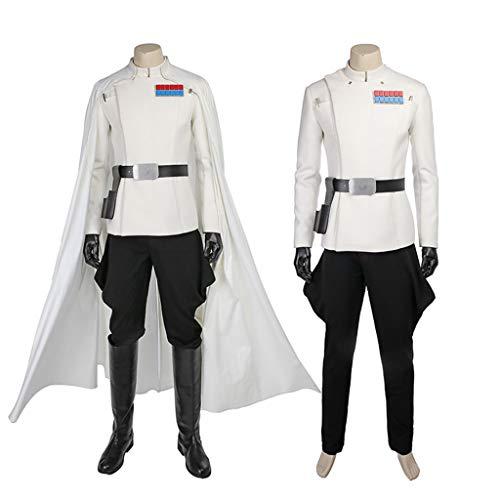 nihiug Star Wars Gerücht Grand Theft Auto 1 Orson Klenik Weißer Samurai Cos Kostüm Halloween Kostüm,White-XL(178to182)