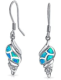 findout ladies 925 sterling silver blue opal cute Turtles earrings, for women girls (f1754)