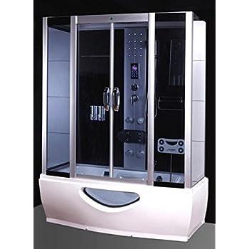 Box doccia idromassaggio combinato con comoda vasca da ...