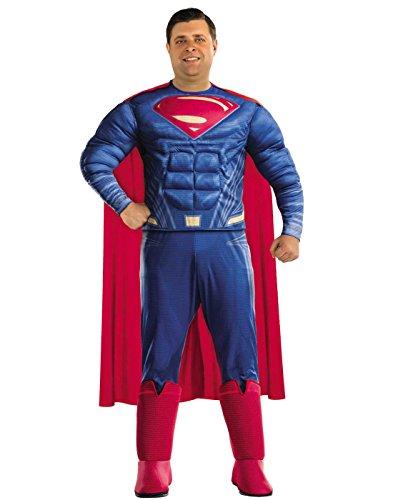 e Superman Plus Size Adult Costume Plus Size (Plus Size Superman Kostüm)