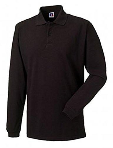 Jerzees colori Polo a maniche lunghe Black