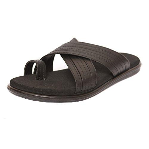 HEALTH FIT Men's PU Black Diabetic & orthopedic Footwear HF5014_BK 9