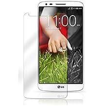 Protector de pantalla Cristal templado para LG G2 Calidad HD, Grosor 0,3mm, Bordes redondeados 2,5D, alta resistencia a golpes 9H. No deja burbujas en la colocación (Incluye instrucciones y soporte en Español)
