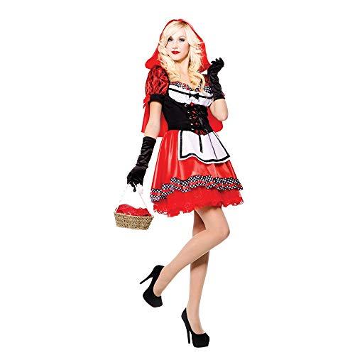Hood Kostüm Riding Für Erwachsene - Red Hood Sweetie - Red Riding Hood - erwachsenes Abendkleid- Kostüm - One Size