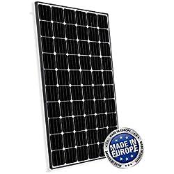Panneau Solaire Photovoltaïque 300W Monocristallin Européenne adaptés aux installations sur la Maison Chalet Caravane Campeur