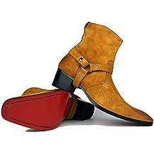 Botas de Hombre Botas de tacón Alto Zapatos de Vestir de Hombre Botas con Cremallera  OZ a318853a608