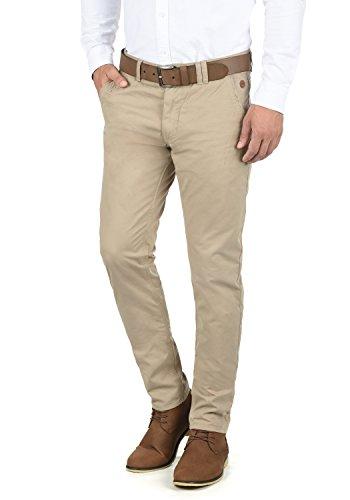 Blend Tromp Herren Chino Hose Stoffhose Aus 100% Baumwolle Regular Fit, Größe:W34/34, Farbe:Beige Brown (71509)