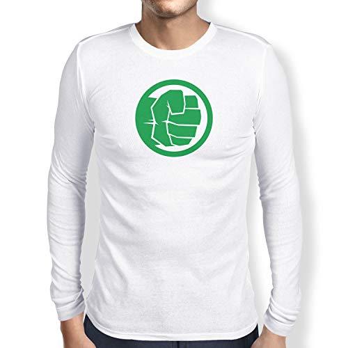 (Texlab Smashing Fist - Herren Langarm T-Shirt, Größe S, weiß)