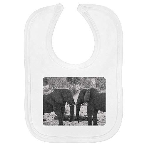 Azeeda 'Elefantes' Bebé Babero (BI00002698)