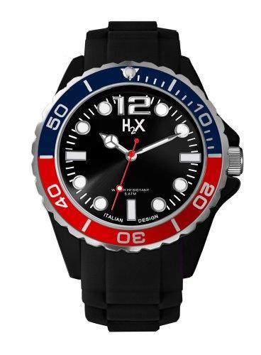 Haurex Herren Analog Quarz Uhr mit Gummi Armband SN382UN2
