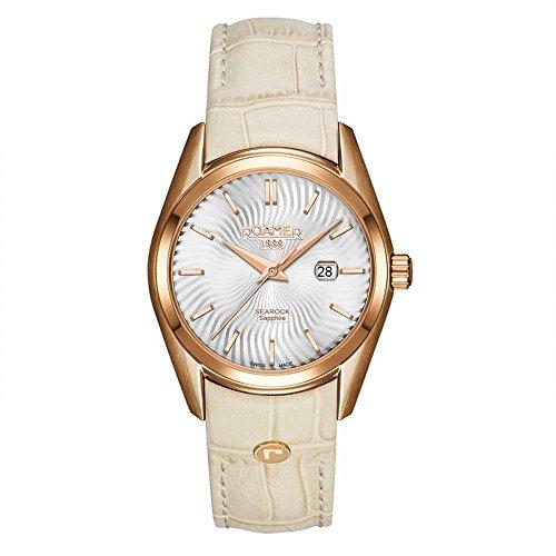 Roamer of Switzerland Women's Searock 34mm Beige Quartz Watch 203844 49 05 02