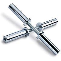 Par barras de mancuerna para disco 50 mm. cromada y maciza, con rodamientos.