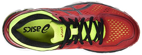 Asics Kayano 22, Chaussures de Course Homme Rouge (Red Pepper/Black/Flash Yellow)