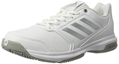 adidas Damen Adizero Attack Tennisschuhe, Weiß (Ftwr White/silver Metallic/mgh Solid Grey), 43 1/3 EU