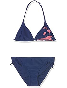 Roxy Essent Rox Bikini para niña, niña, Essent Rox Tri, Blue Depths, 42