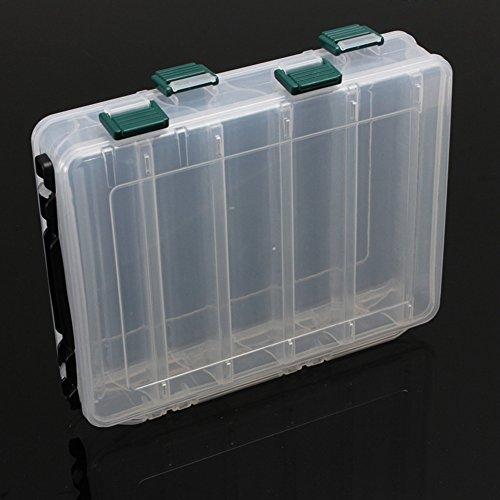 Wongfon Angelbox Wasserbeständigkeit Speicher Fall Fliegen Fischen Köder Löffel Haken Bait Tackle Box Zwei Schicht Fishing Tackle Box