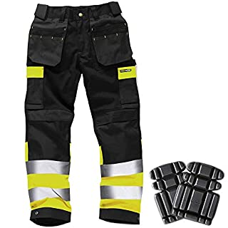 Army And Workwear Colour: Black/Yellow | Size: 36R | inc Knee Pads