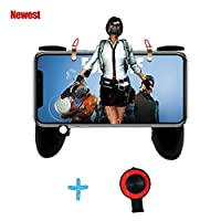 Mobile Game Controller, Sensitive Shoot and Aim Trigger Fire Buttons L1R1 Not Block Screen Easy to Use for PUBG Mobile/Knives Out/Rules of Survival (black)