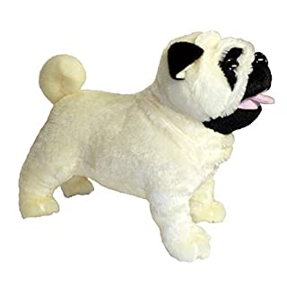 ADORE 12 Standing Misfit the Farting Pug Dog Plush Stuffed Animal Toy by Adore Plush Company