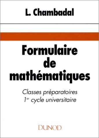 Formulaire de mathmatiques