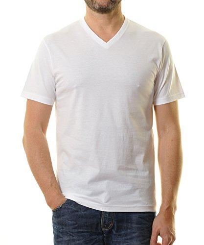 Preisvergleich Produktbild RAGMAN Herren RAGMAN Doppelpack - 2 T-Shirts mit V-Ausschnitt